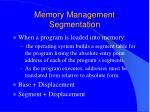 memory management segmentation