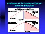 attainment of performance criterion based on effect size