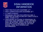 ihsaa handbook information