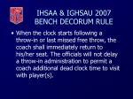 ihsaa ighsau 2007 bench decorum rule44
