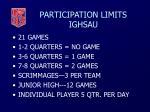 participation limits ighsau