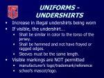 uniforms undershirts