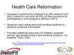health care reformation