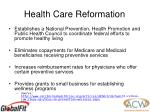 health care reformation8