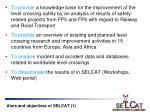 aims and objectives of selcat 1