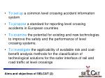 aims and objectives of selcat 2