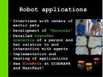 robot applications