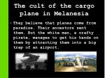the cult of the cargo plane in melanesia