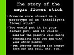 the story of the magic flower stick