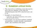 3 establish critical limits