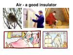 air a good insulator