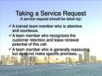 taking a service request