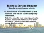 taking a service request53