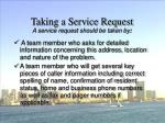 taking a service request54