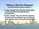 taking a service request55