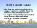 taking a service request56
