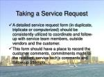 taking a service request57