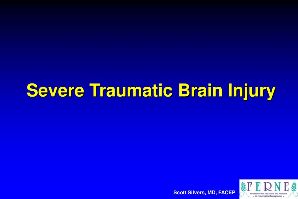 severe traumatic brain injury l.