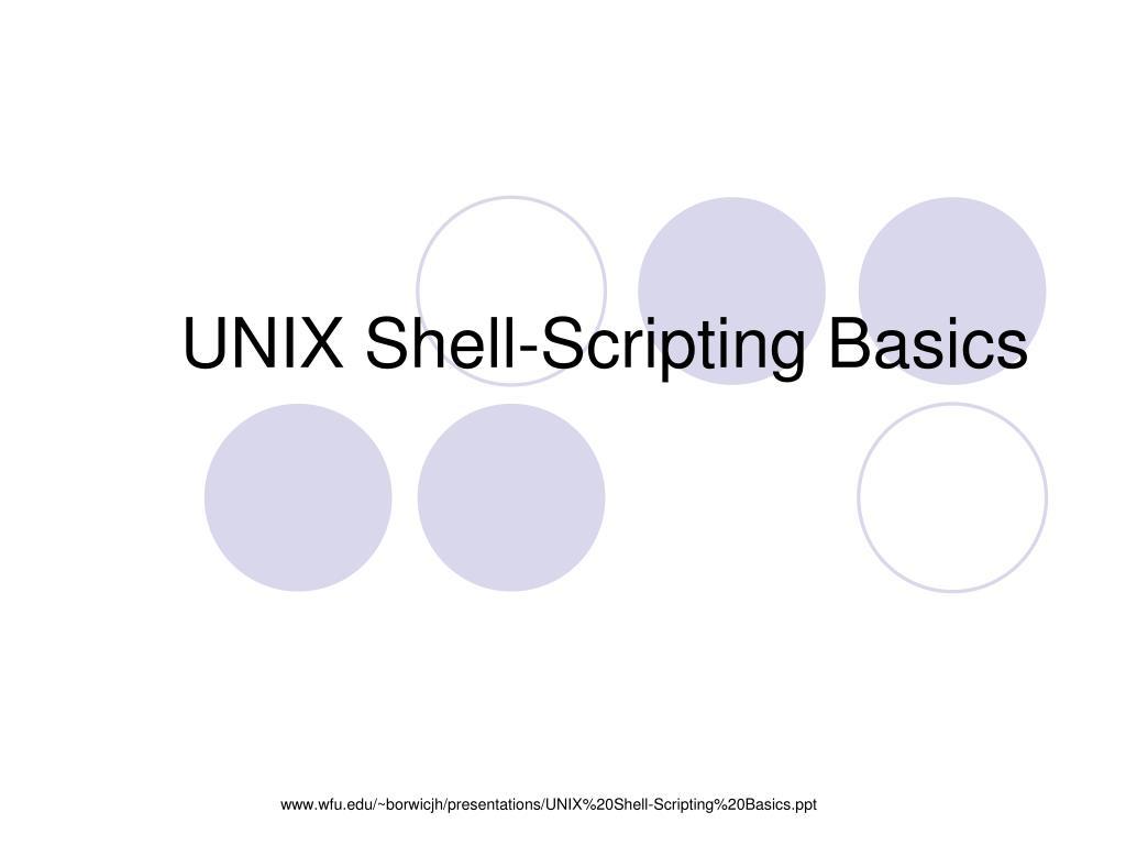 unix shell scripting basics l.