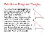 definition of congruent triangles