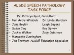 alsde speech pathology task force