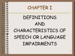 chapter i