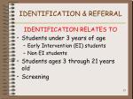 identification referral
