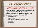 iep development61