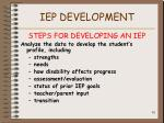 iep development62