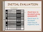 initial evaluation24