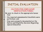 initial evaluation25