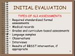 initial evaluation26