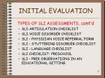 initial evaluation27