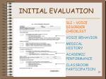 initial evaluation29