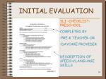 initial evaluation34