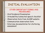 initial evaluation35