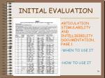 initial evaluation36