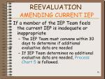 reevaluation amending current iep