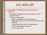 sli and lep105