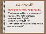 sli and lep106