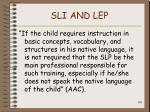 sli and lep108
