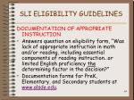 sli eligibility guidelines44