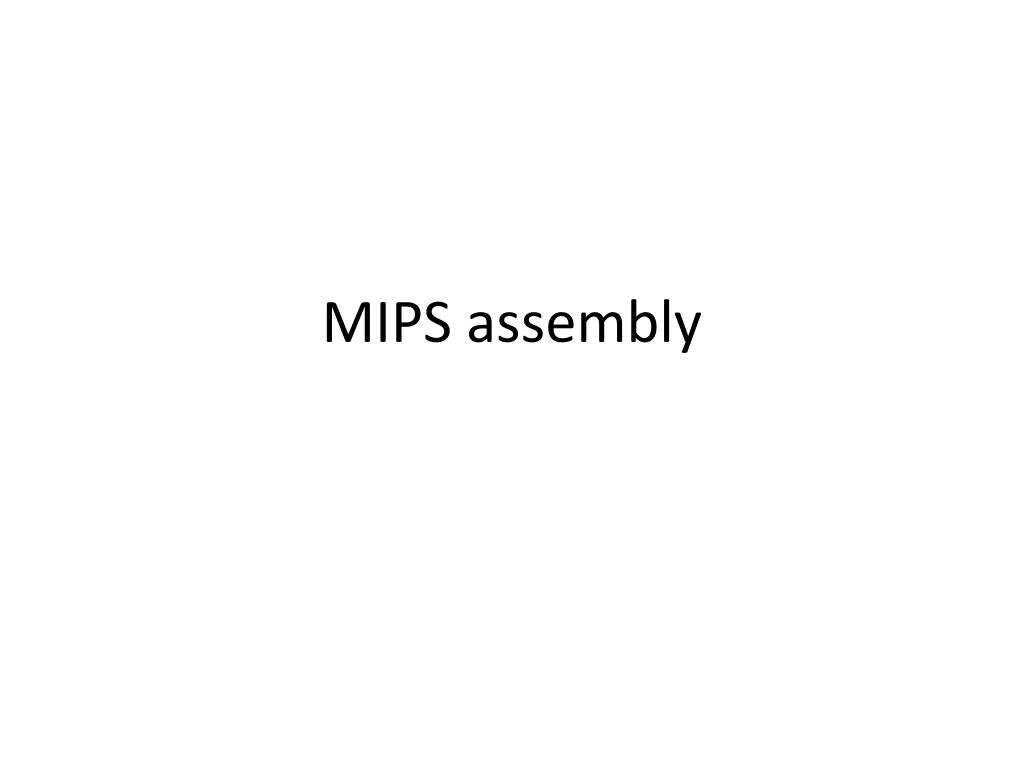 mips assembly l.