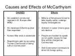 causes and effects of mccarthyism