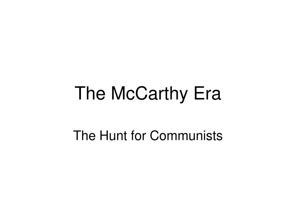 the mccarthy era l.