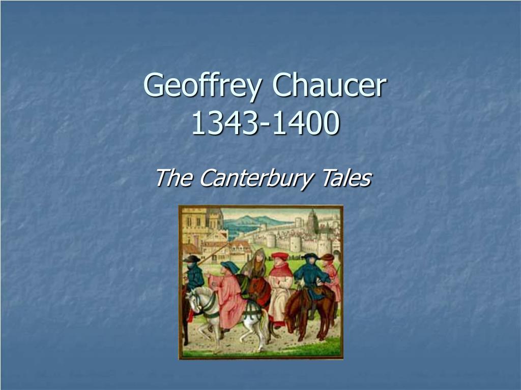 geoffrey chaucer 1343 1400 l.