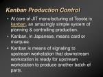kanban production control