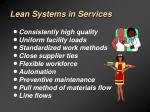 lean systems in services