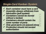single card kanban system46