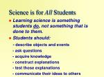 science is for all students